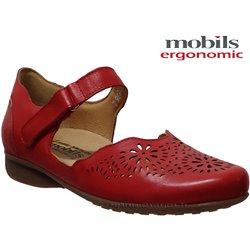 Florina perf Rouge cuir