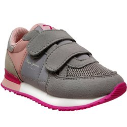 Sydney basic girl velcro Gris/rose