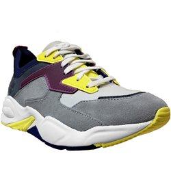 Delphiville Gris/jaune/violet