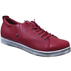 0348736 sneaker Rouge cuir 71215
